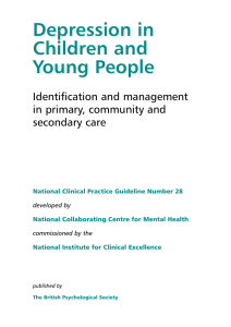 Depression in Children and Young People Identification and management