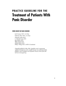 Treatment of Patients With Panic Disorder