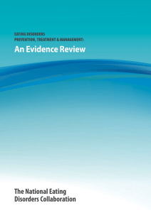 An Evidence Review The National Eating Disorders Collaboration EATING DISORDERS