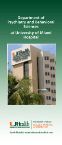 Department of Psychiatry and Behavioral Sciences at University of Miami