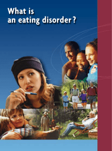 What is an eating disorder ?