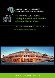 2014  Uniting Research and Practice in Mental Health  Care