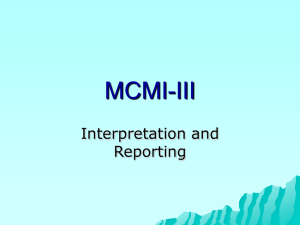 MCMI-III Interpretation and Reporting