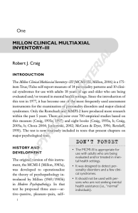 Millon Clinical Multiaxial Inventory–III
