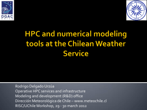 HPC and numerical modeling tools at the Chilean Weather