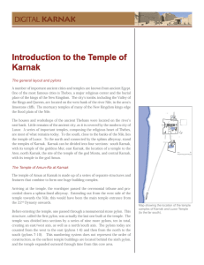 Introduction to the Temple of Karnak