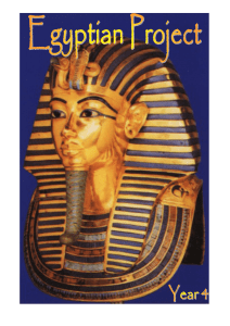 Egyptian project 1 - Primary Resources