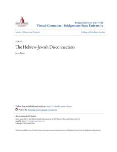 The Hebrew-Jewish Disconnection - Virtual Commons