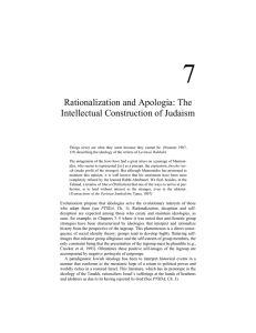 Rationalization and Apologia: The Intellectual