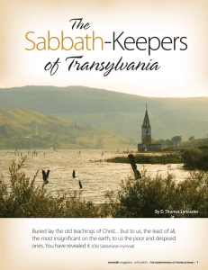 The Sabbath-Keepers of Transalvania