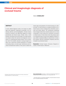 clinical and imaginologic diagnosis of occlusal trauma
