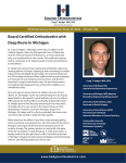 Board Certified Orthodontist with Deep Roots In Michigan