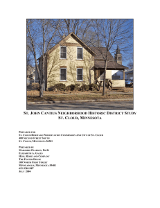St. John Cantius Neighborhood Historic District Study