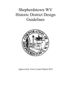 Shepherdstown WV Historic District Design Guidelines