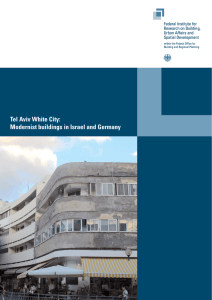 Tel Aviv White City: Modernist buildings in Israel and Germany