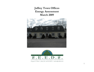 Town Offices Energy Assessment, March 2009