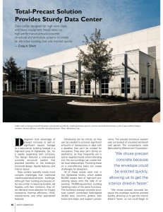 Total-Precast Solution Provides Sturdy Data Center