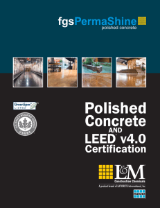 Polished Concrete and LEED v4.0 Certification