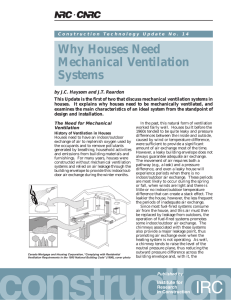 Why Houses Need Mechanical Ventilation Systems