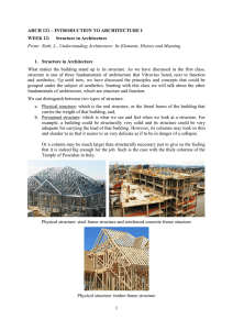 1 ARCH 121 – INTRODUCTION TO ARCHITECTURE I WEEK 12