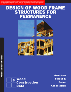 Design of Wood Frame Structures for Permanence