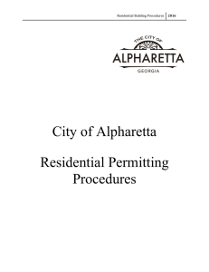 Residential Building Permitting Procedures