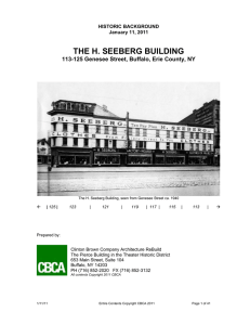 the h. seeberg building - Buffalo Architecture and History