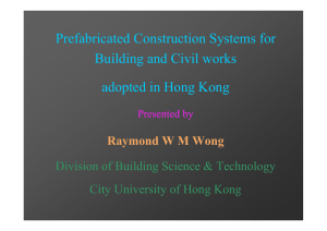 Prefabricated Construction Systems for Building and Civil works