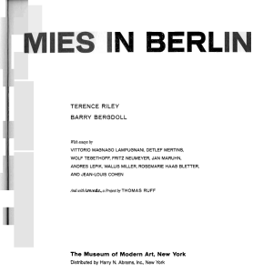 Mies and Exhibitions