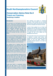 Conservation Advice Notes on Thatching and Doors