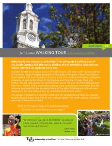 Self-Guided WALKING TOUR of the University at Buffalo