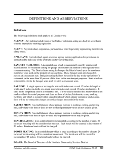 Definitions and Abbreviations in Sewer Ordinance