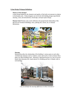 Urban Design Webpage-Definitions What is Urban Design?