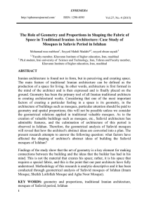 The Role of Geometry and Proportions in Shaping the