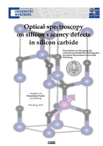Optical spectroscopy on silicon vacancy defects in silicon carbide