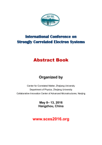 Abstract book final - International Conference on Strongly
