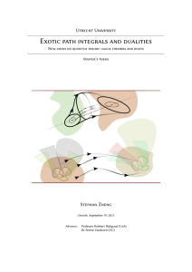 Exotic path integrals and dualities
