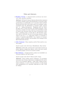 Titles and Abstracts - The Institute of Mathematical Sciences