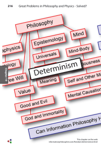Determinism - The Information Philosopher