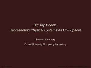Big Toy Models - Tulane University