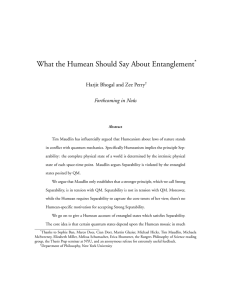 What the Humean Should Say About Entanglement