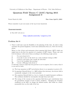 Problem Set 00 - UCSD Department of Physics