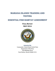 Essential Fish Habitat Assessment Revised Final Report – May 2014