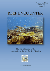 REEF ENCOUNTER - International Society for Reef Studies