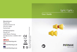 User Guide - Lyric