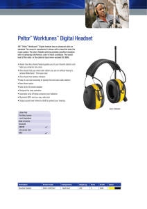 Peltor™ Worktunes™ Digital Headset