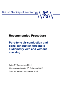 Recommended Procedure - British Society of Audiology
