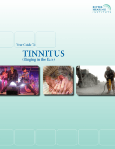 Your Guide To TinniTus - Better Hearing Institute