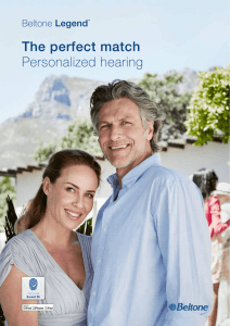 The perfect match Personalized hearing