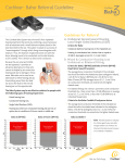 Cochlear™ Baha® Referral Guideline